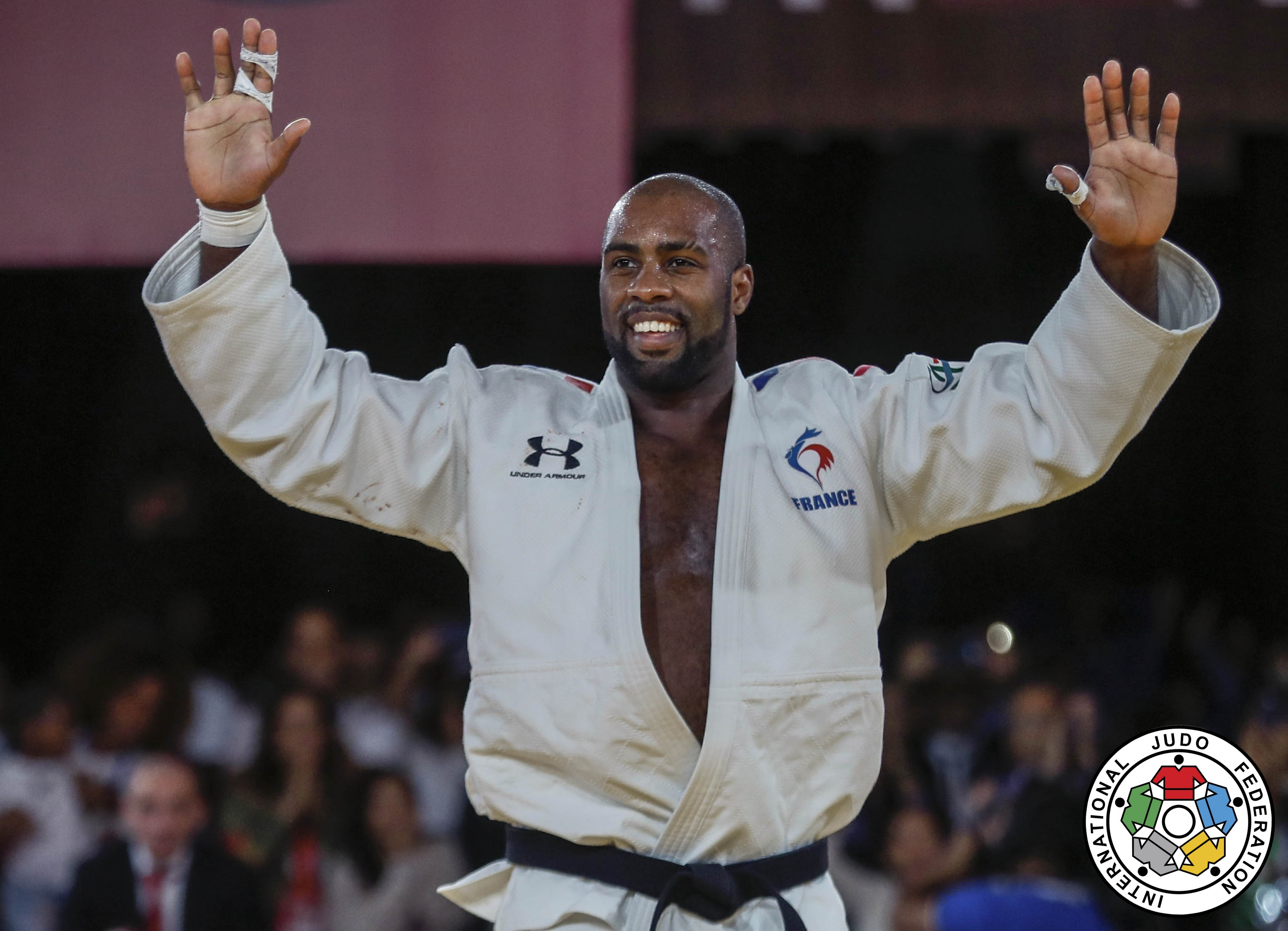 teddy riner champion du monde pour la 10e fois f d ration fran aise de judo. Black Bedroom Furniture Sets. Home Design Ideas