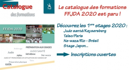 CATALOGUE DES FORMATIONS 2020