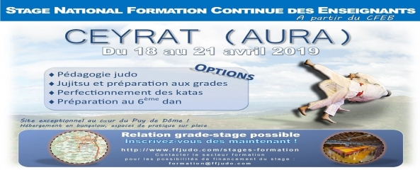 FORMATION - STAGE CEYRAT